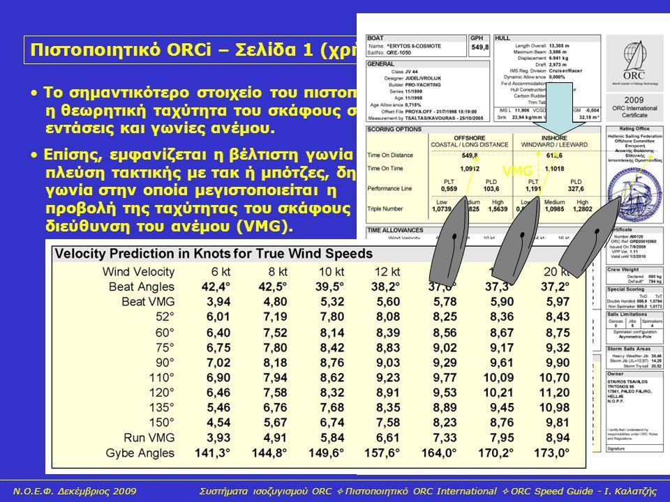 Πιστοποιητικό ORCi – Σελίδα 1 (χρήσιμες οδηγίες)
