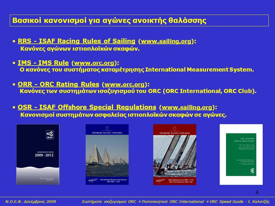 Βασικοί κανονισμοί για αγώνες ανοικτής θαλάσσης