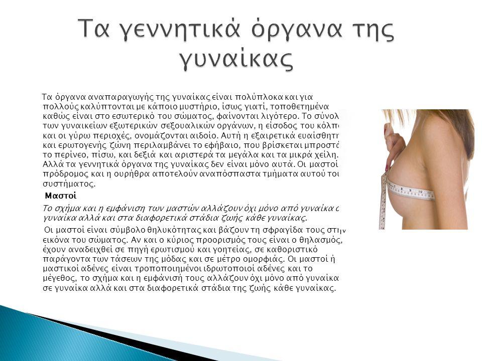 Τα γεννητικά όργανα της γυναίκας