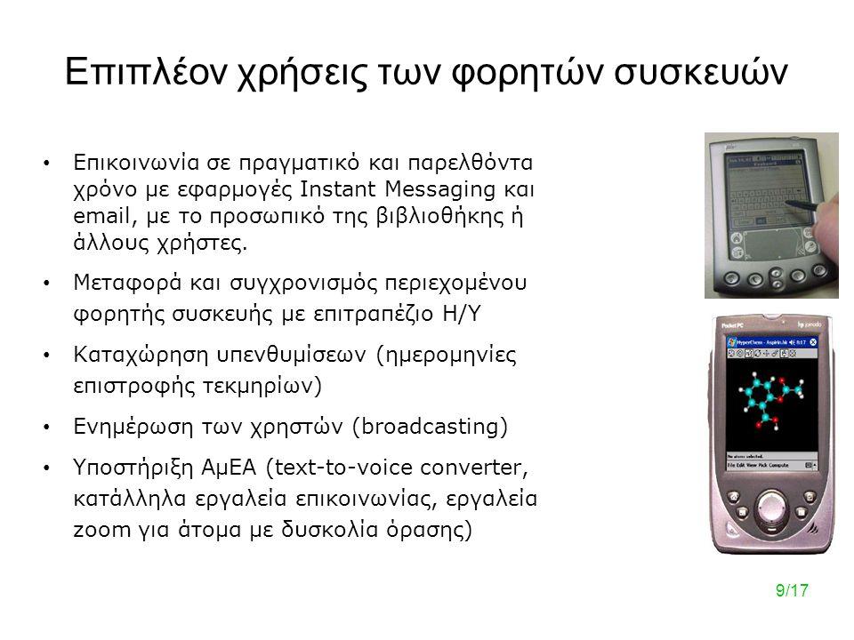 Επιπλέον χρήσεις των φορητών συσκευών