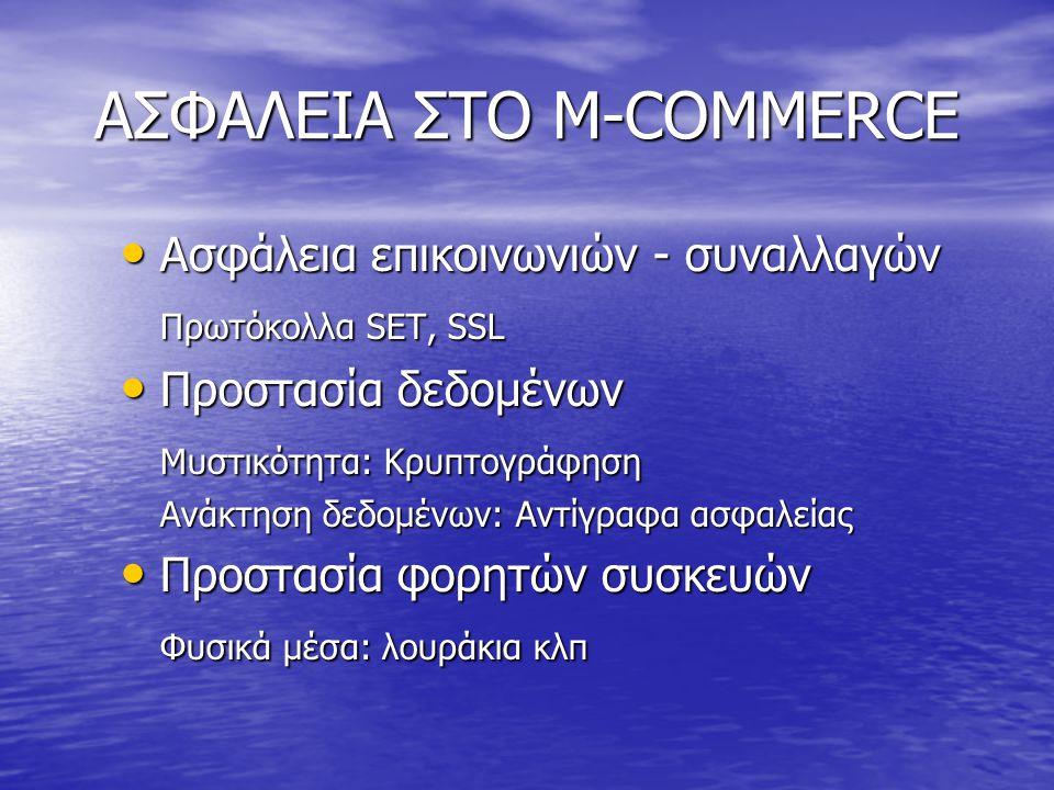 ΑΣΦΑΛΕΙΑ ΣΤΟ M-COMMERCE