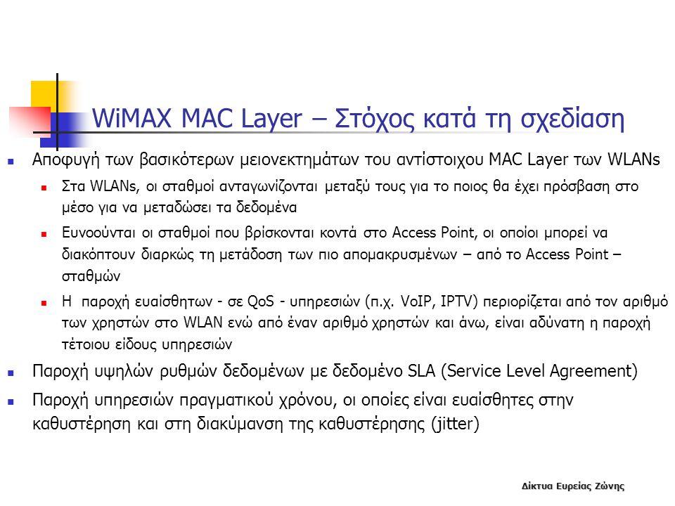WiMAX MAC Layer – Στόχος κατά τη σχεδίαση