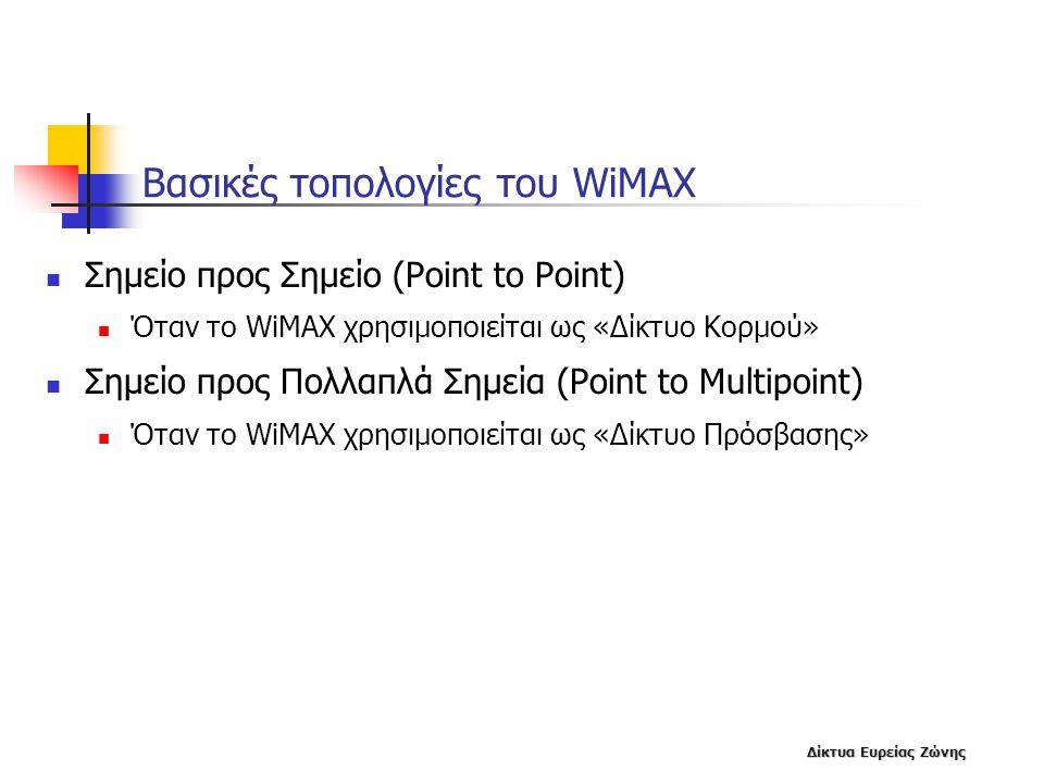 Βασικές τοπολογίες του WiMAX