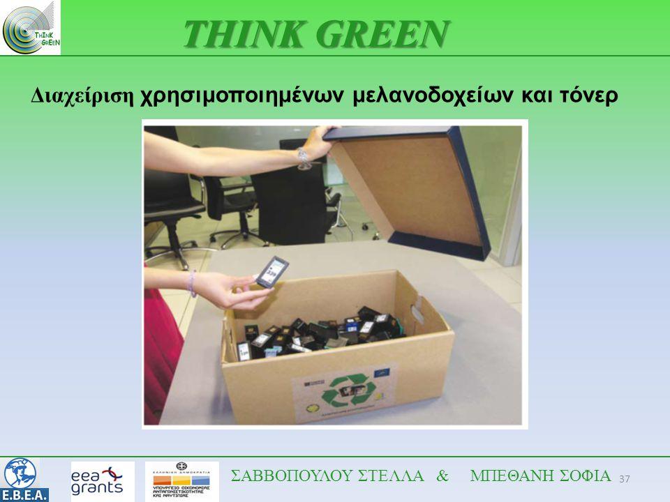 THINK GREEN Διαχείριση χρησιμοποιημένων μελανοδοχείων και τόνερ