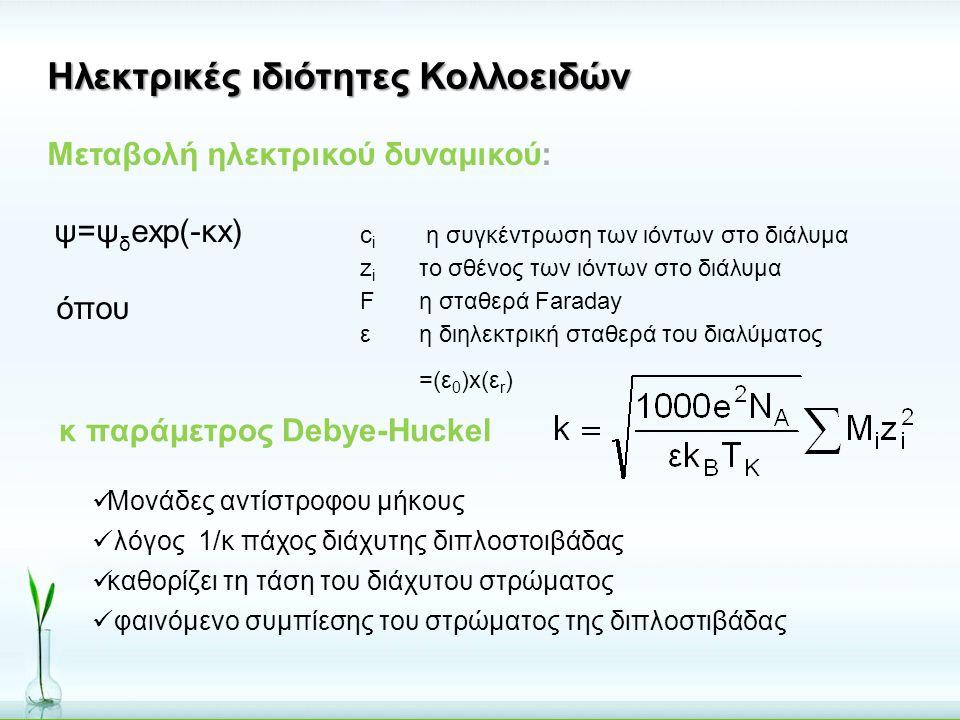 Ηλεκτρικές ιδιότητες Κολλοειδών