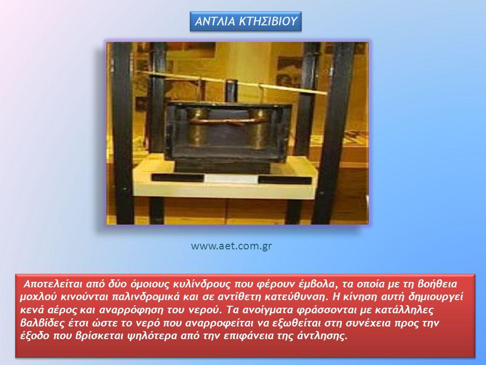 ΑΝΤΛΙΑ ΚΤΗΣΙΒΙΟΥ www.aet.com.gr