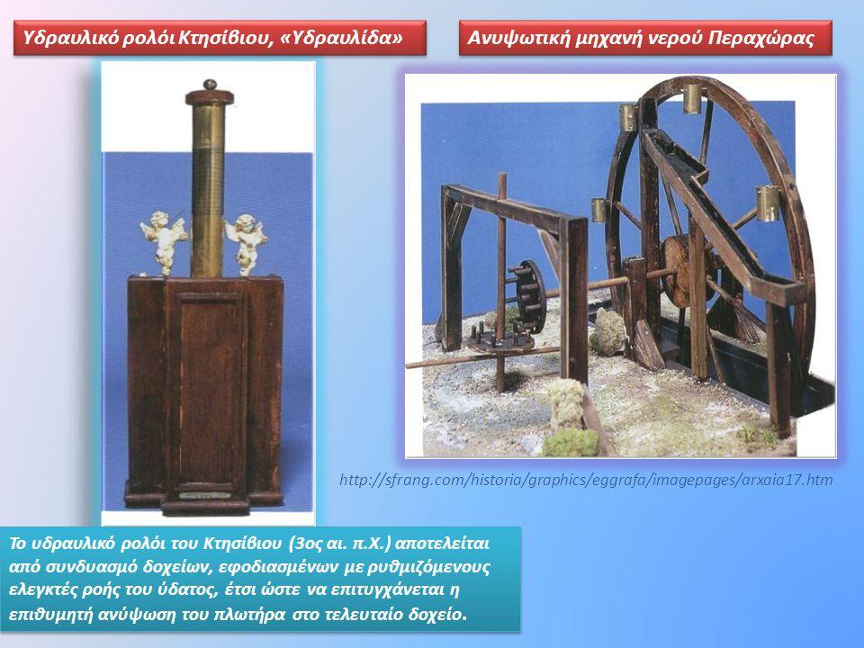Υδραυλικό ρολόι Κτησίβιου, «Υδραυλίδα»