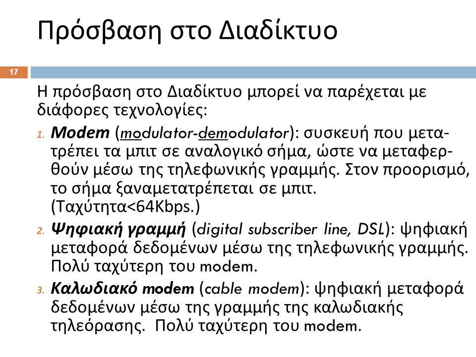 Πρόσβαση στο Διαδίκτυο