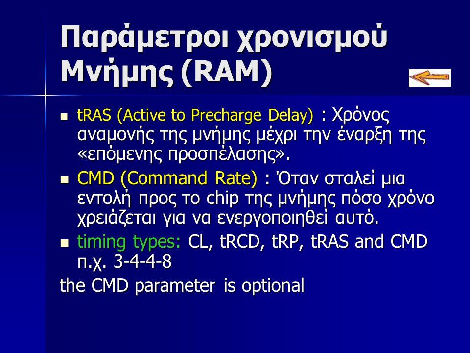 Παράμετροι χρονισμού Μνήμης (RAM)