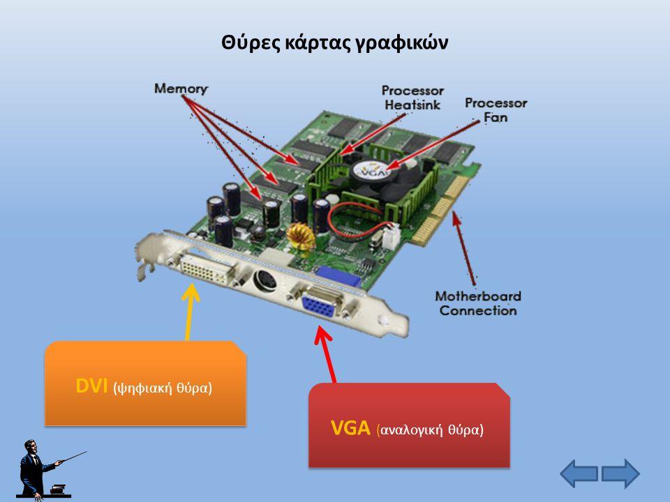 Θύρες κάρτας γραφικών DVI (ψηφιακή θύρα) VGA (αναλογική θύρα)