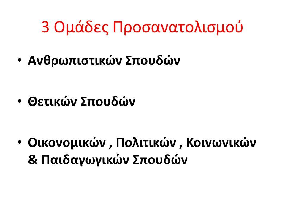 3 Ομάδες Προσανατολισμού