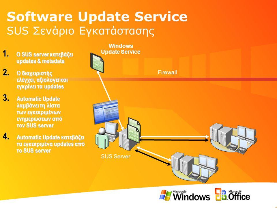 Software Update Service SUS Σενάριο Εγκατάστασης