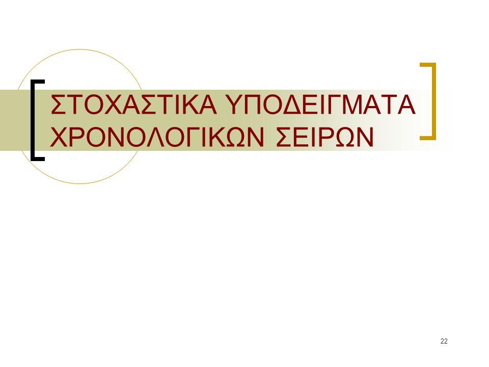 ΣΤΟΧΑΣΤΙΚΑ ΥΠΟΔΕΙΓΜΑΤΑ ΧΡΟΝΟΛΟΓΙΚΩΝ ΣΕΙΡΩΝ