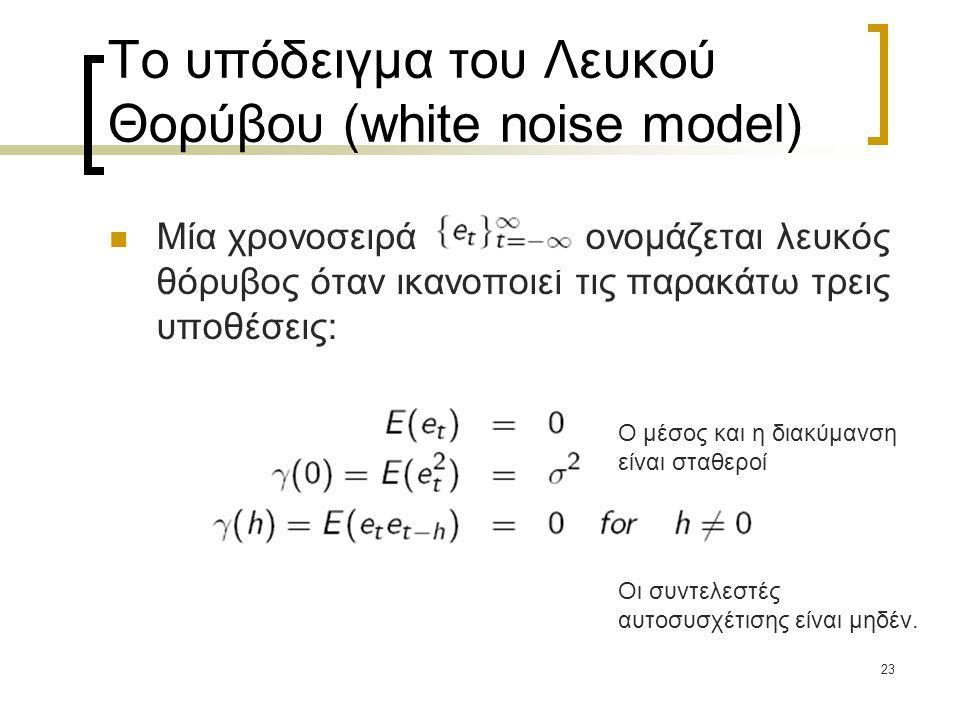 Το υπόδειγμα του Λευκού Θορύβου (white noise model)