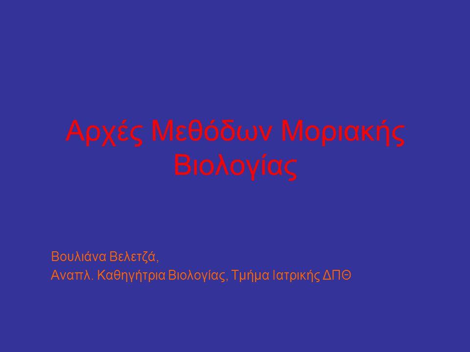 Αρχές Μεθόδων Μοριακής Βιολογίας