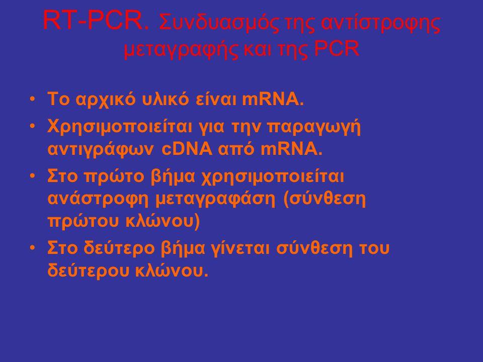 RT-PCR. Συνδυασμός της αντίστροφης μεταγραφής και της PCR
