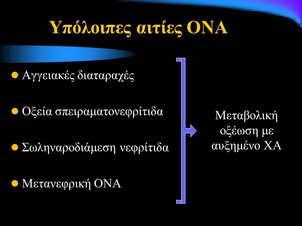 Μεταβολική οξέωση με αυξημένο ΧΑ