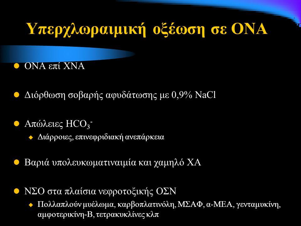 Υπερχλωραιμική οξέωση σε ΟΝΑ