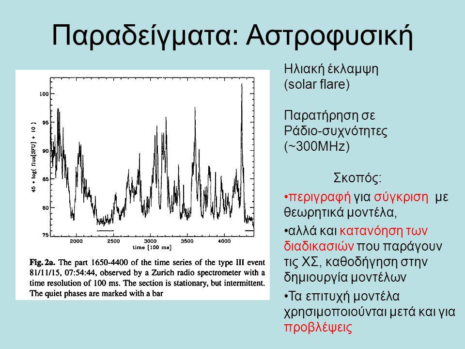 Παραδείγματα: Αστροφυσική