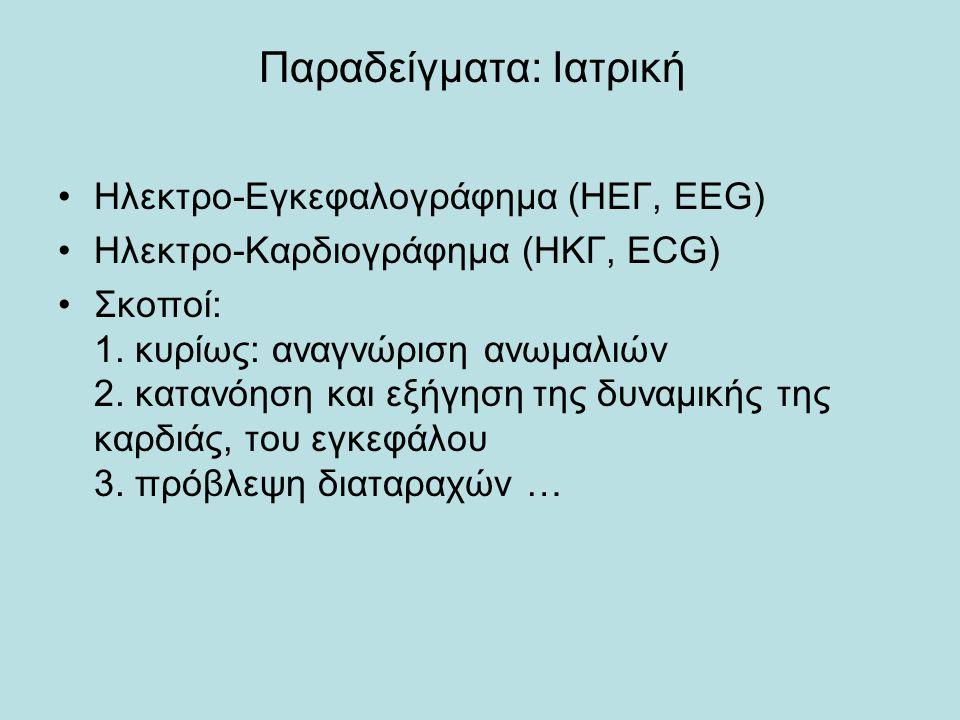 Παραδείγματα: Ιατρική