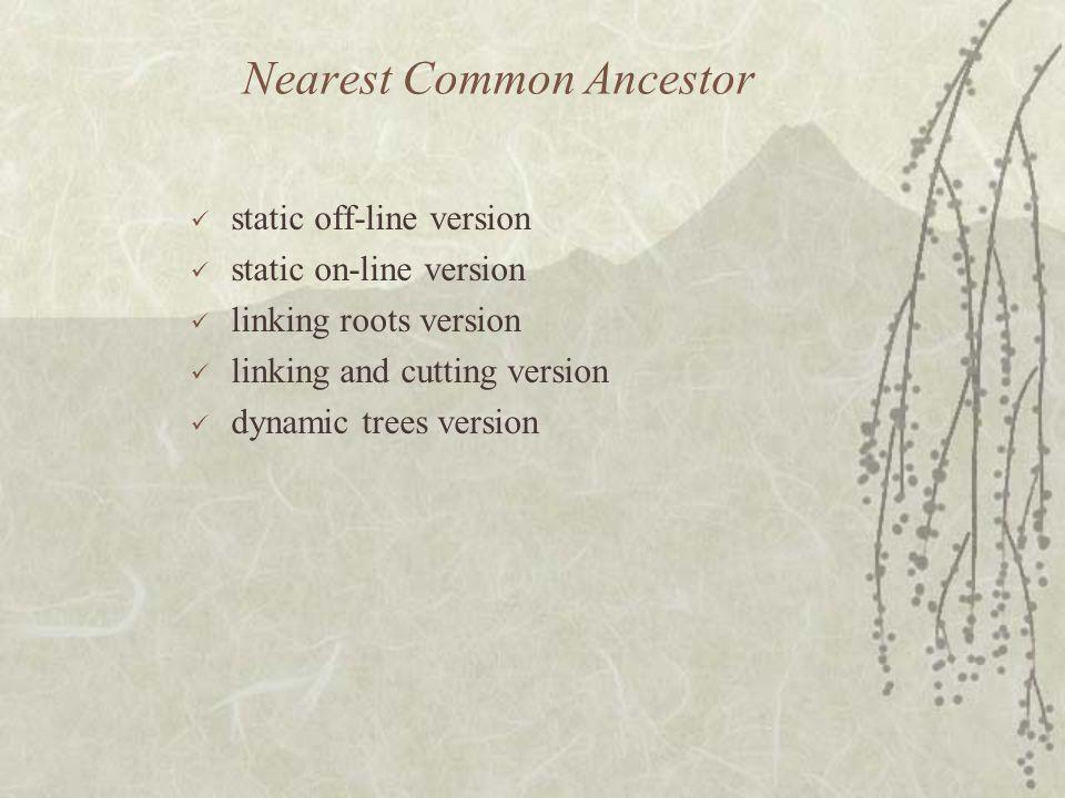 Nearest Common Ancestor