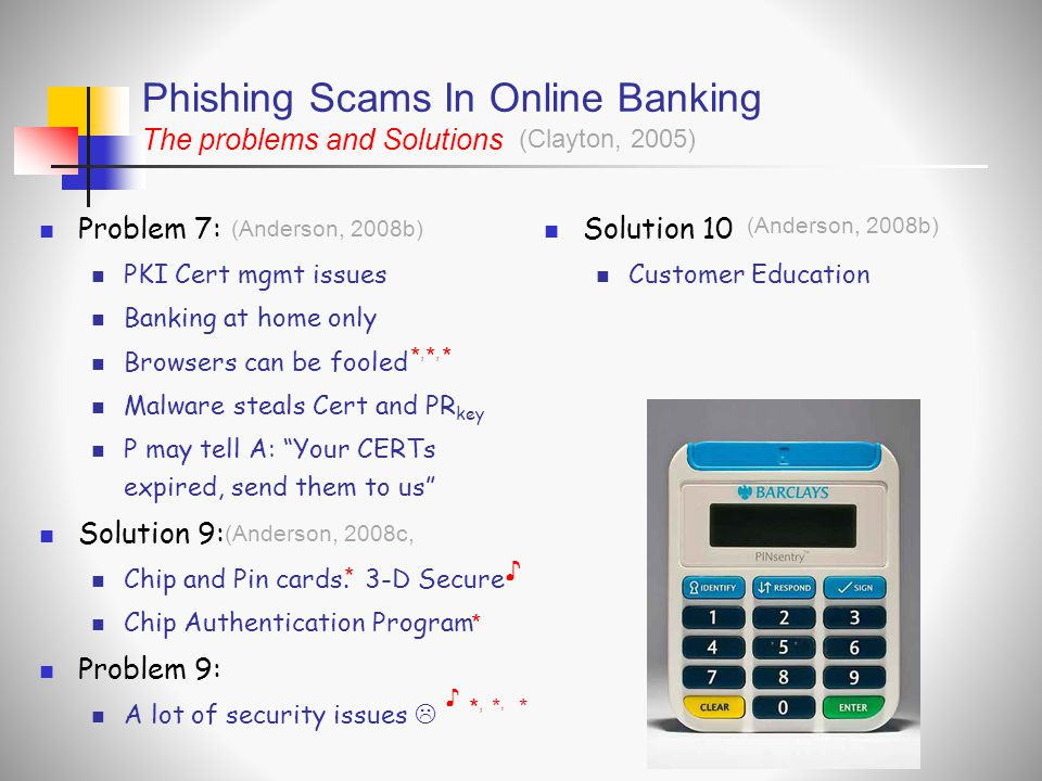 Phishing Scams In Online Banking The problems and Solutions