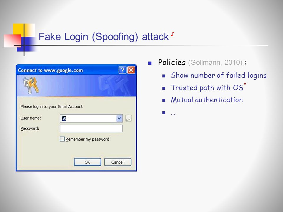 Fake Login (Spoofing) attack