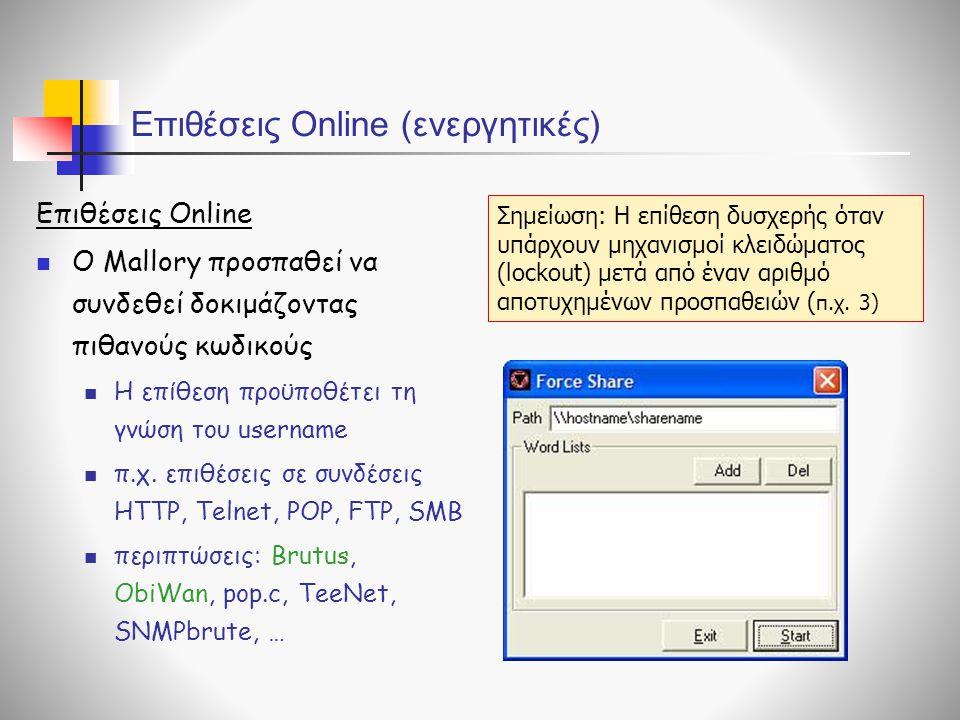 Επιθέσεις Online (ενεργητικές)