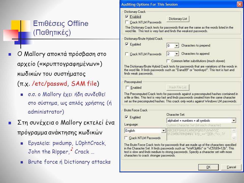 Επιθέσεις Offline (Παθητικές)