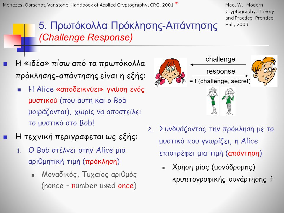 5. Πρωτόκολλα Πρόκλησης-Απάντησης (Challenge Response)