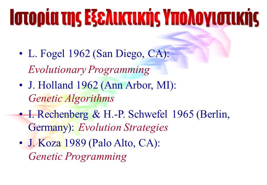 Ιστορία της Εξελικτικής Υπολογιστικής