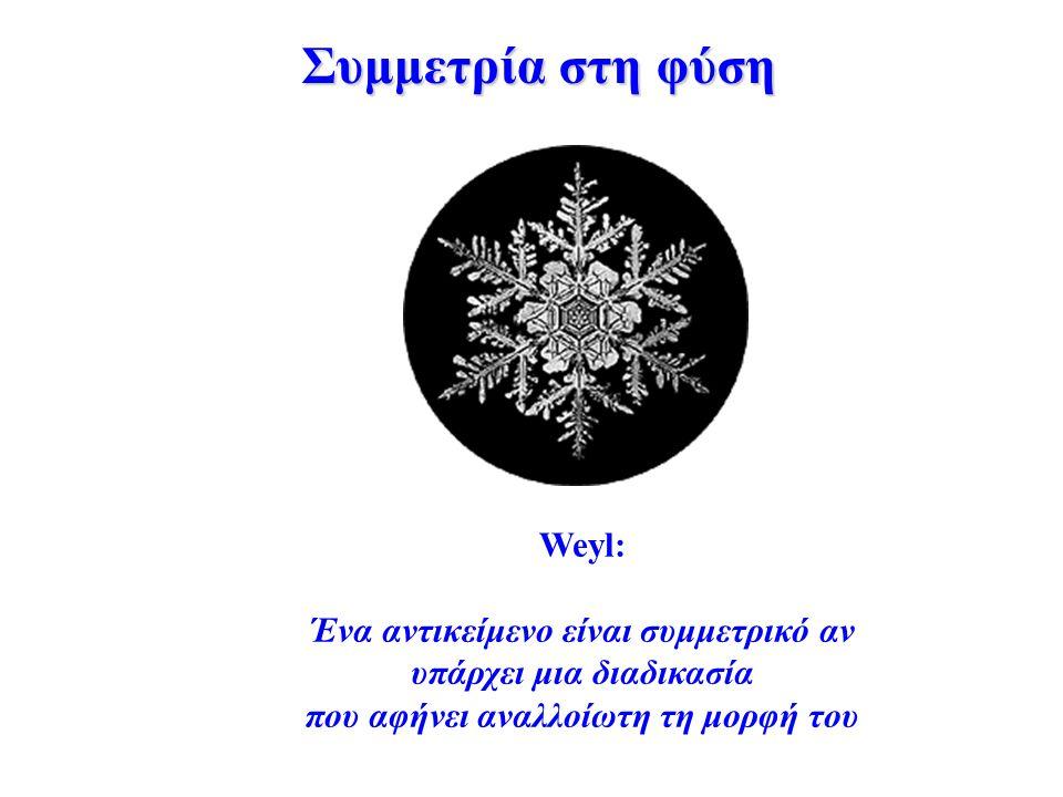 Συμμετρία στη φύση Weyl: