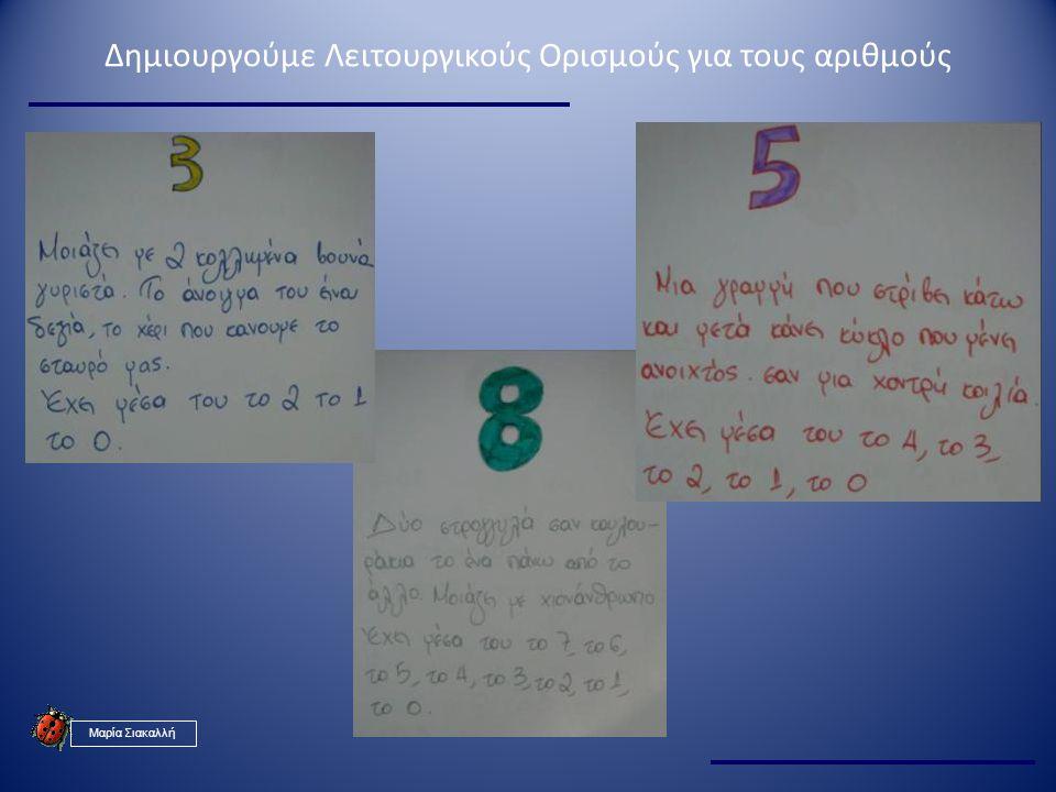 Δημιουργούμε Λειτουργικούς Ορισμούς για τους αριθμούς