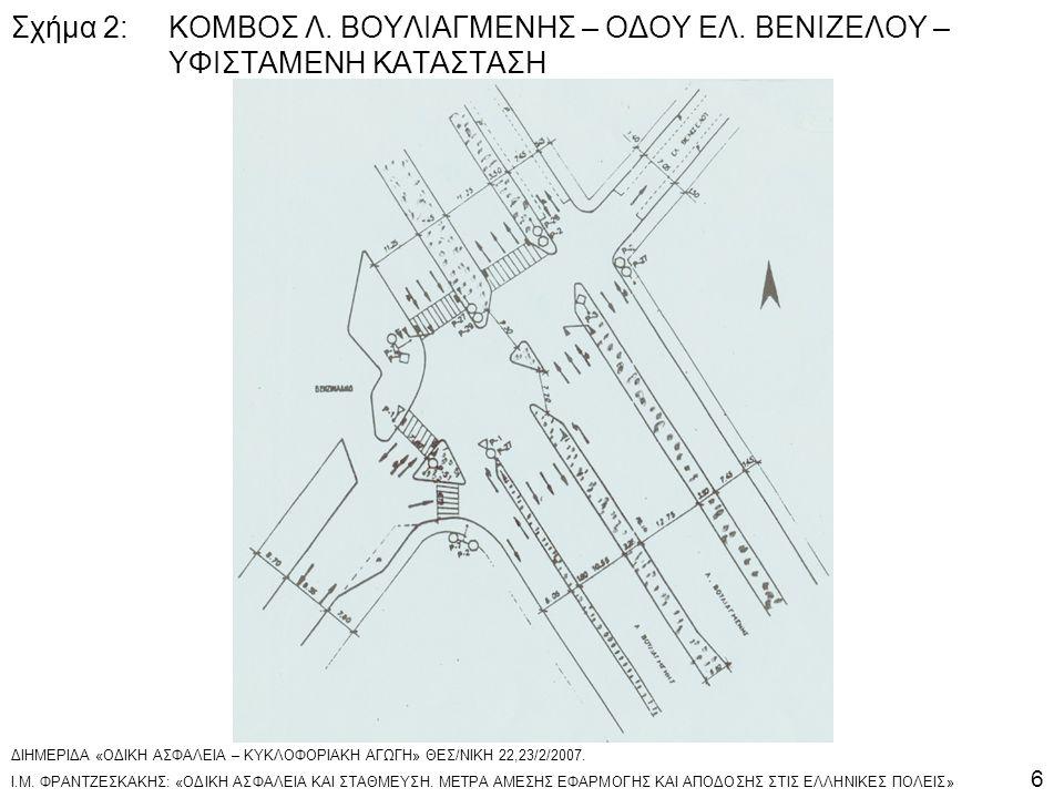 Σχήμα 2:. ΚΟΜΒΟΣ Λ. ΒΟΥΛΙΑΓΜΕΝΗΣ – ΟΔΟΥ ΕΛ