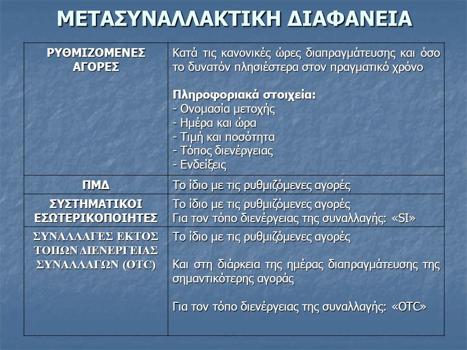ΜΕΤΑΣΥΝΑΛΛΑΚΤΙΚΗ ΔΙΑΦΑΝΕΙΑ