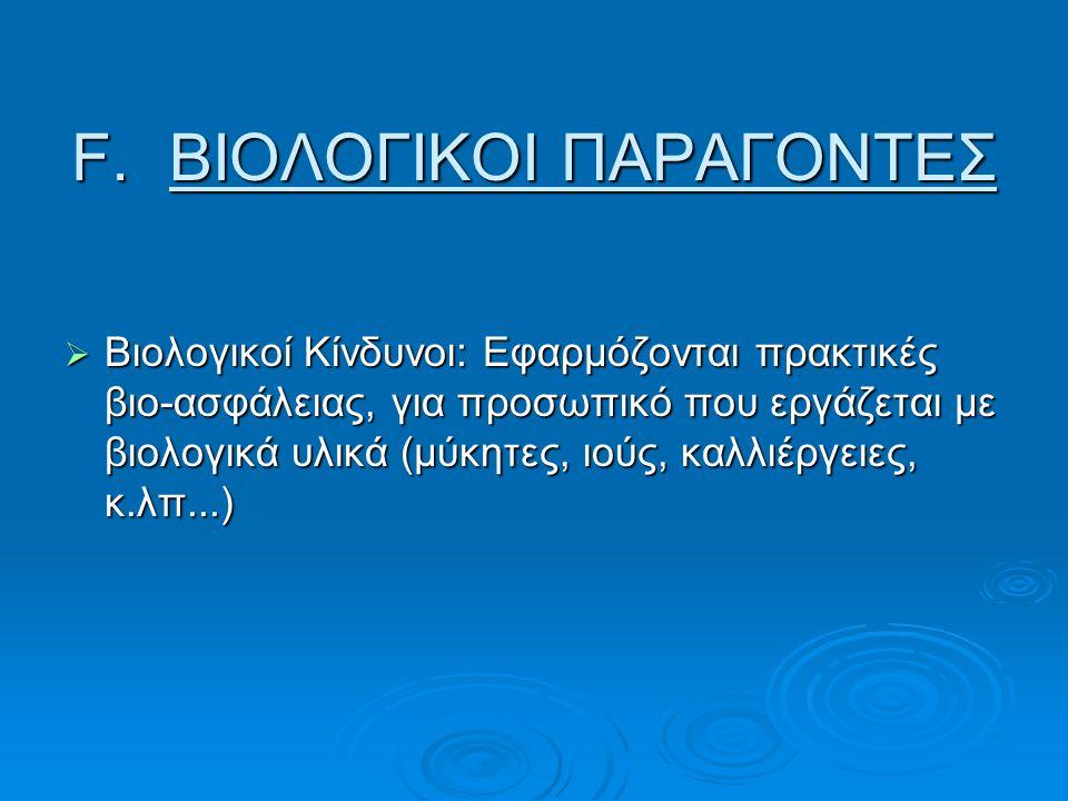 ΒΙΟΛΟΓΙΚΟΙ ΠΑΡΑΓΟΝΤΕΣ