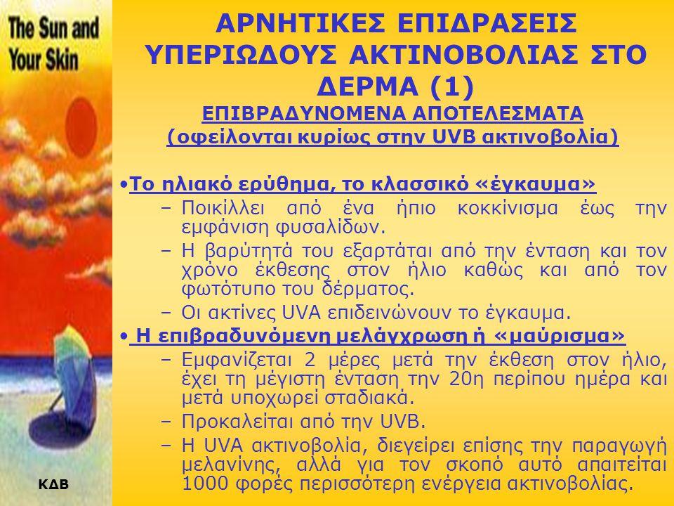 ΑΡΝΗΤΙΚΕΣ ΕΠΙΔΡΑΣΕΙΣ ΥΠΕΡΙΩΔΟΥΣ ΑΚΤΙΝΟΒΟΛΙΑΣ ΣΤΟ ΔΕΡΜΑ (1)