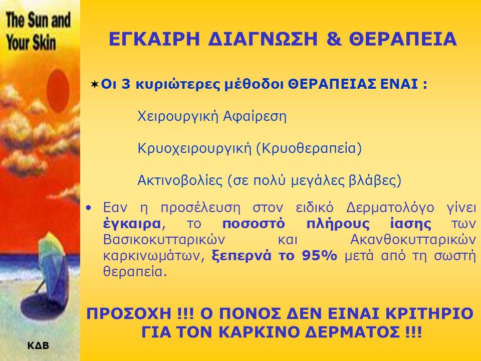 ΕΓΚΑΙΡΗ ΔΙΑΓΝΩΣΗ & ΘΕΡΑΠΕΙΑ