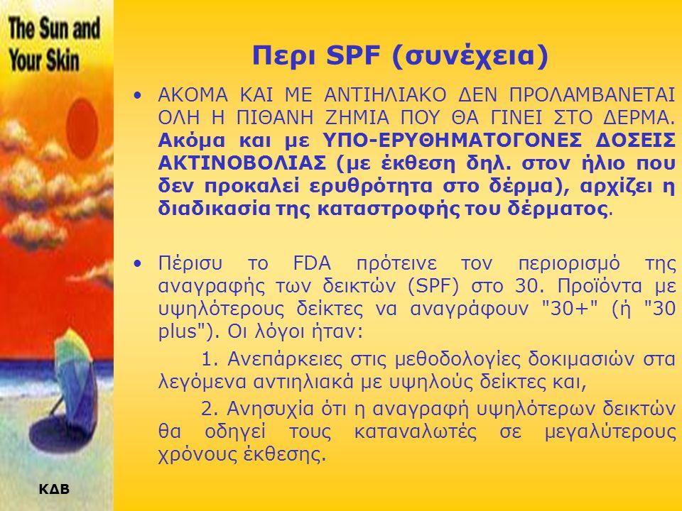 Περι SPF (συνέχεια)