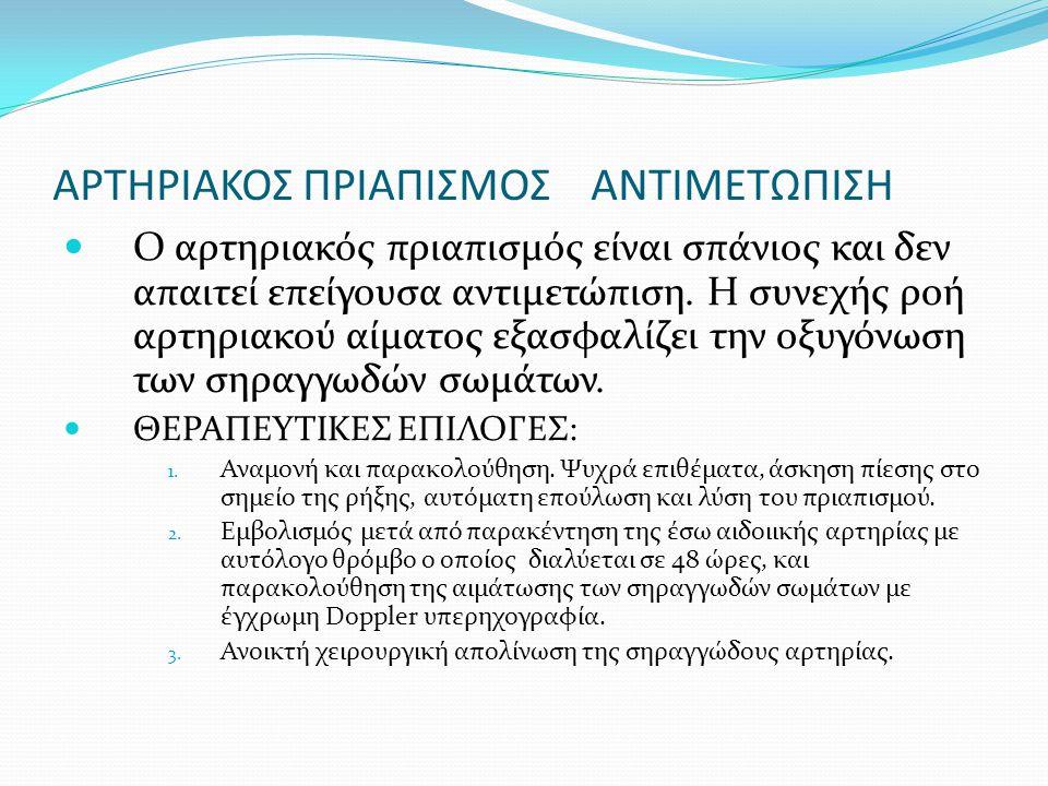 ΑΡΤΗΡΙΑΚΟΣ ΠΡΙΑΠΙΣΜΟΣ ΑΝΤΙΜΕΤΩΠΙΣΗ