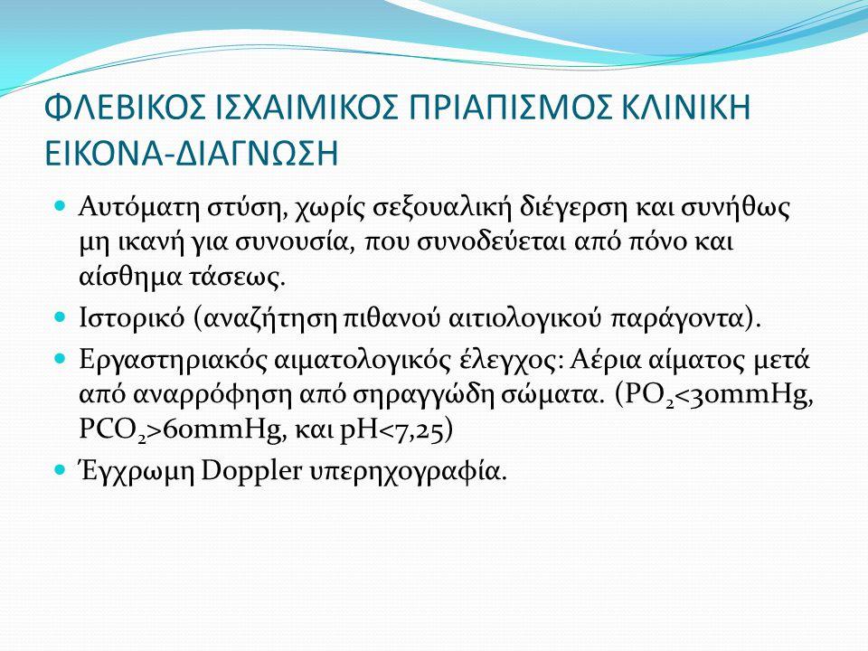 ΦΛΕΒΙΚΟΣ ΙΣΧΑΙΜΙΚΟΣ ΠΡΙΑΠΙΣΜΟΣ ΚΛΙΝΙΚΗ ΕΙΚΟΝΑ-ΔΙΑΓΝΩΣΗ