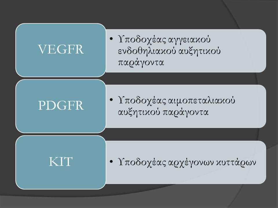 VEGFR PDGFR KIT Υποδοχέας αγγειακού ενδοθηλιακού αυξητικού παράγοντα