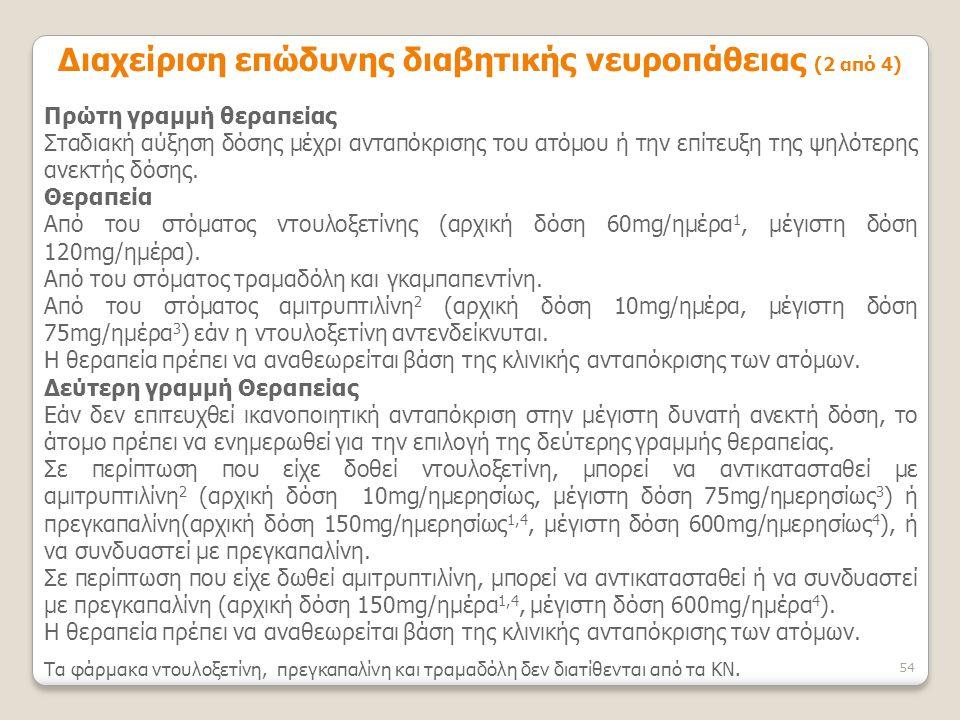 Διαχείριση επώδυνης διαβητικής νευροπάθειας (2 από 4)