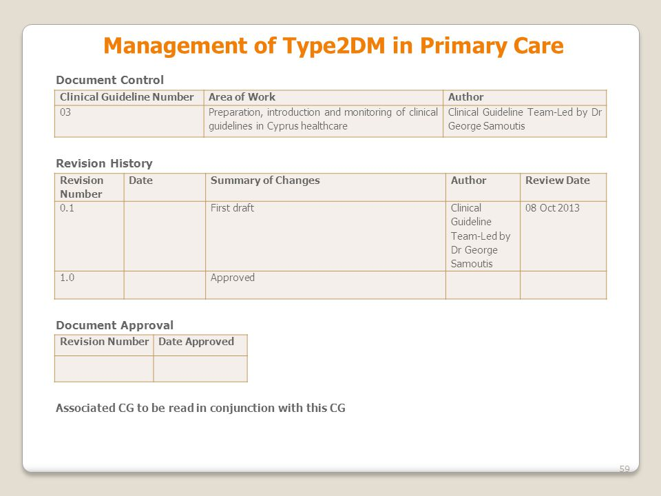 Management οf Type2DM in Primary Care
