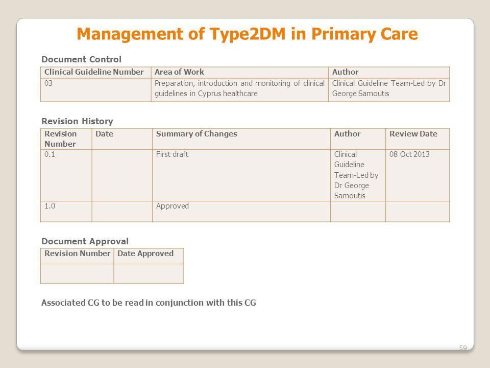 Management οf Type2DM in Primary Care