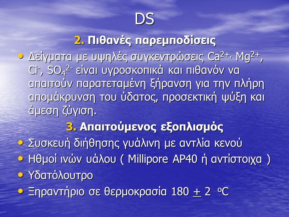 DS 2. Πιθανές παρεμποδίσεις