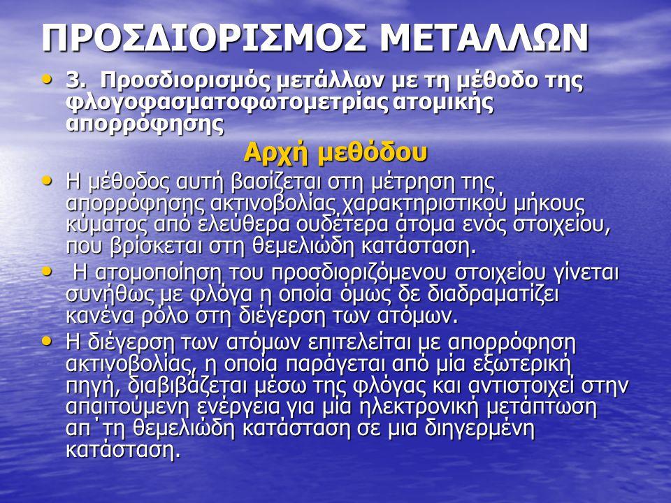 ΠΡΟΣΔΙΟΡΙΣΜΟΣ ΜΕΤΑΛΛΩΝ