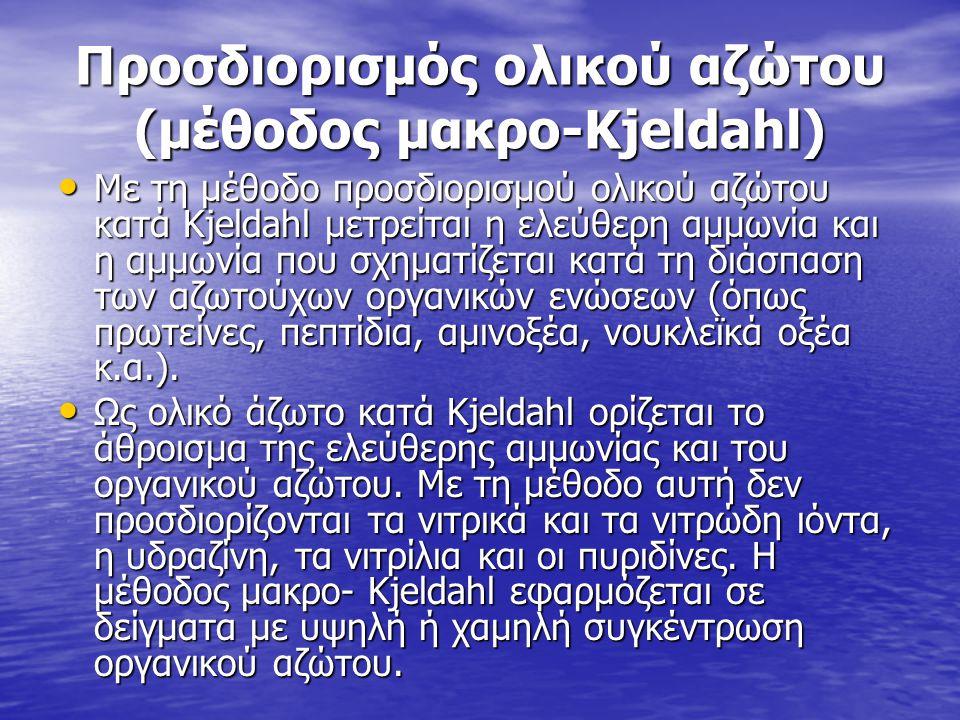 Προσδιορισμός ολικού αζώτου (μέθοδος μακρο-Kjeldahl)