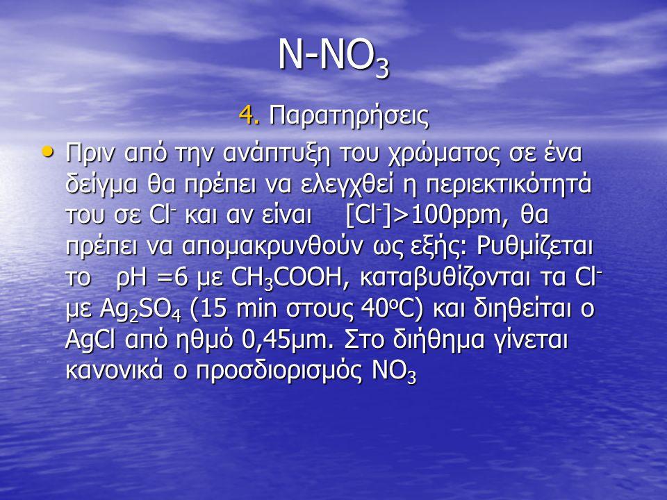 N-NO3 4. Παρατηρήσεις.