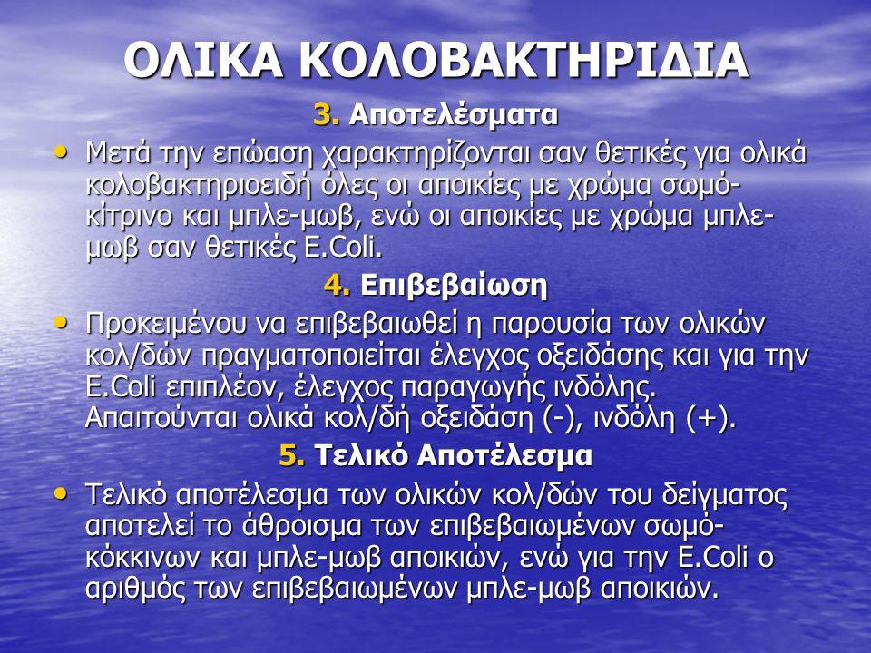ΟΛΙΚΑ ΚΟΛΟΒΑΚΤΗΡΙΔΙΑ 3. Αποτελέσματα